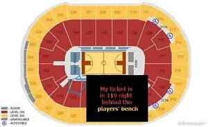 NBA Ticket Right Behind players bench section 119