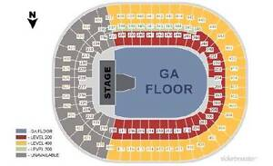 METALLICA LOWER BOWL TICKETS (SEC 209, ROW V)