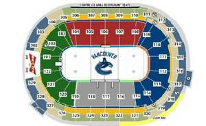 (SAT, OCT. 20) BOSTON BRUINS @ CANUCKS (sec 304, row 11) 4 seats