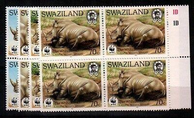 Swaziland Scott 519-22 Mint NH blocks (Catalog Value $103.00)