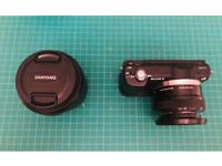 Sony A5000+Samyang 12mm f/2.+Manfrotto 190Xprob Tripod+Head+Extras *BUNDLE*