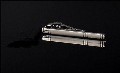 Men silver Metal Simple Practical Necktie Tie Bar Clasp Pin Clip #1