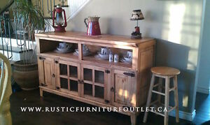 SALE Rustic pine hacienda tv stand