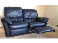 3&2 seater very dark blue High Quality Leather sofa set Recliner