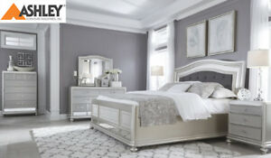 QUEEN SIZE MODERN ASHLEY BED ONLY BLOWOUT SALE