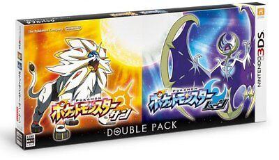 NEW 3DS LL Pokemon SUN + MOON Pocket Monster Go (Japanese Double Pack) + DLC
