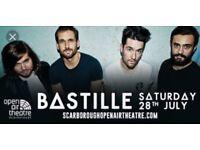 Bastille Ticket £40 28th July 2018