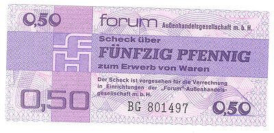 DDR 1979  50 Pfennig Forumscheck kassenfrisch  Ro.367a