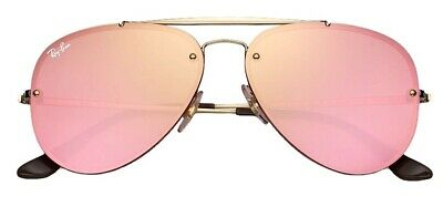 Ray-Ban RB3584N Pink Aviator 9052/E4 Gold Frame/Pink Mirror Lenses Unisex (Ray Ban Aviators Pink Lenses)