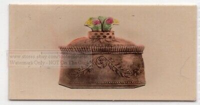 Naples Dish - Antique Dish Giustiniani Bros. Naples Italy Pottery Ceramic 1920s Trade Ad Card