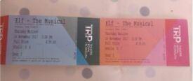 Elf - The Musical - 2 x Tickets 16th November 2.30pm