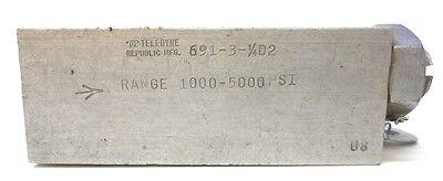 Teledyne Republic Mfg. Valve 691-3-14d2 Range 1000-5000psi 14 Ports