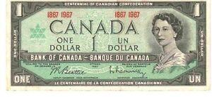 BILLET DE UN DOLLAR DE 1967 POUR COLECTIONNEUR
