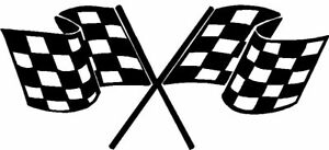 CROSSED CHECKERED FLAGS Vette Sticker Decal