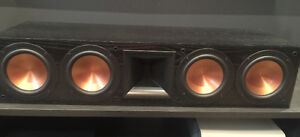 Home Theater High End Klipsch Center Channel, Towers & Subwoofer