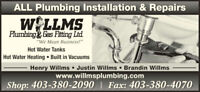Journeyman and apprentice plumbers wanted