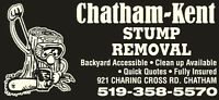 CHATHAM-KENT STUMP  REMOVAL