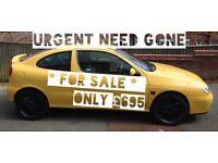 Renault MEGANE 1.6 yellow petrol manual car