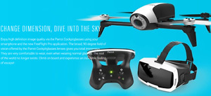 Parrot Bebop 2 Drone FPV Pack & Many Extras