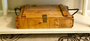Vintage Antique Wooden Ammo Storage Box Crate