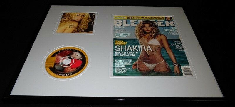 Shakira 16x20 Framed ORIGINAL 2005 Blender Magazine Cover & CD Display
