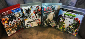 PS3 Games: Plant Vs Zombies, UFC Undisputed, Madden10, MAG