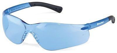 Crews Bearkat 3 Safety Glasses Light Blue Lenses Soft Gel Nose Pad