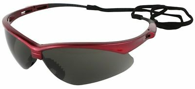 Jackson Nemesis Inferno Safety Glasses With Red Frame And Smoke Lens Ansi Z87