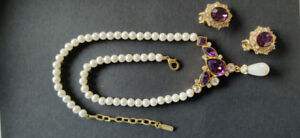 Vendome Jewelry Necklace and earrings asking $100.00 OBO