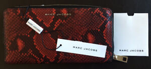 NEW: Marc Jacobs red embossed leather wallet