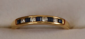 18kt Yellow Gold, Sapphire and Diamond Ring