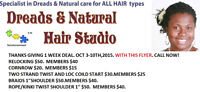 Dreads and Natural Hair Care $30