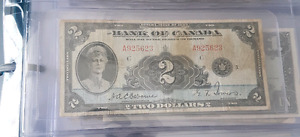 First release of bank of canada 2 dollar bill 1935 bill