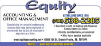 Behind on Bookkeeping? CRA Issues? We Can Help...Phone Us