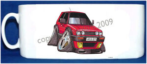 KOOLART-VW-GOLF-MK-II-GTi-RED-ON-A-WHITE-OR-BLACK-PHOTO-MUG