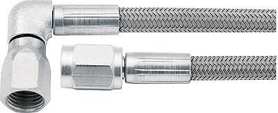 Allstar ALL46302 30 Braided Steel Brake Lines 3 AN 90 Degree 30 Length