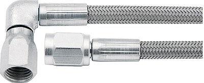 Allstar ALL46302 24 Straight Braided Stainless Steel Brake Line 3 An 90 deg 24
