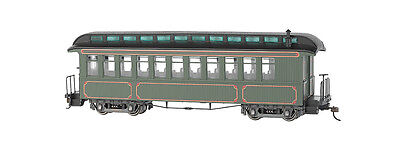 Bachmann On30 Olive, Unlettered - Coach/Obser. w/ Lighted interior 26202