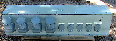 Large Penn Panel Power Distribution Panel Box 9 Receptacles 520 Amps Of Outlet