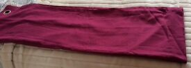 Purple lined eyelet curtains size 64ins wide X 54in drop