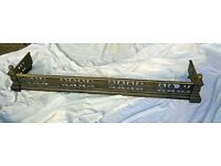 Old cast iron and brassopen fire grate fender