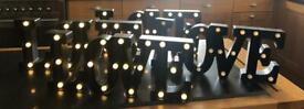 4 light up LOVE signs for £25