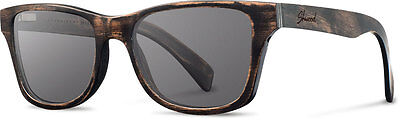 SHWOOD CANBY WOOD POLARIZED SUNGLASSES | DISTRESSED DARK WALNUT / GREY (Canby Woods)