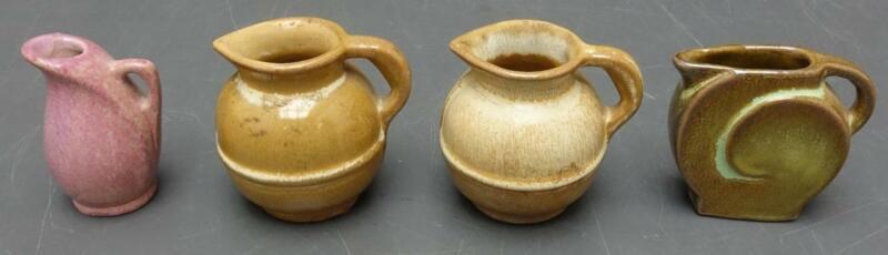 RARE 4pc Frankoma Miniature Pottery Lot - Guernsey Pitcher 550 + Mini 556 557