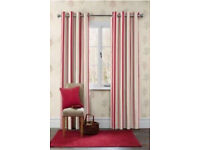 Next Red Stripe Curtains