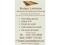 Laminate Flooring Supplied & Installed