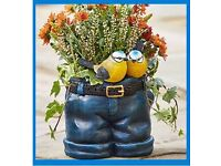 Jeans Planter With Birds - brand new