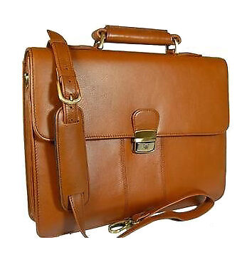 Visconti Tuscan Brown Leather Briefcase