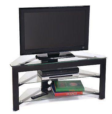 wood corner tv stand ebay. Black Bedroom Furniture Sets. Home Design Ideas