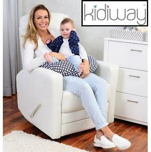 NEW KIDIWAY HABANA BABY CHAIR - 119077221 - BONDED LEATHER GLIDER WHITE